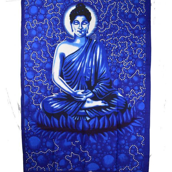 Tenture Budha Blue Bubbles 210 cm x 140 cm réf: BC-18/40