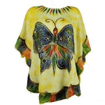 Blouse Tie Dye Grand Papillon Peint JK-1982 jaune