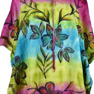 Tunique Kaftan Floral Peint Trois Tons  JK-1987/C
