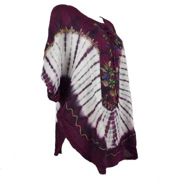 Blouse Simla Batik Femme Inde  JK-1118 Prune