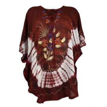 Tunique Simla Batik Femme Inde JK-1118 Bordeaux