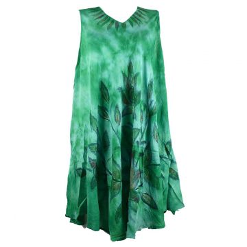 Robe Grande Taille Dévapur Tie Dye JK-433 Vert