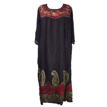 Robe Longue Allipur JK-2195 noir Batik Rouge