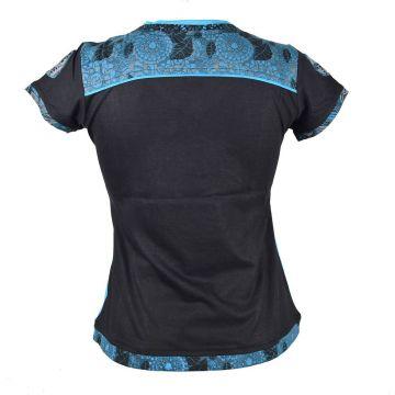 Top Zimia Mi- Manches en Maille Jersey réf: EV18-01 Turquoise