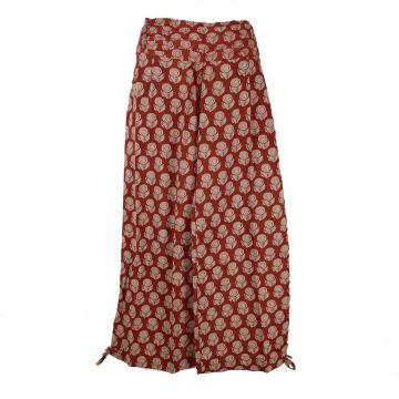 Pantalon Femme Naricha imprimé Gulabi Bordeaux