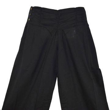 Pantalon Femme Naricha Coton Uni Noir