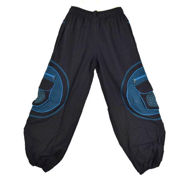Pantalon Homme Mudhol Six Poches Noir et Pétrole