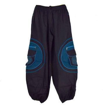 Pantalon Homme Mudhol Six Poches SD-2053/A Noir et Pétrole
