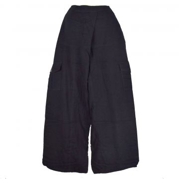 Pantalon Nisi Yoga Coton Artisanal Tramé Noir
