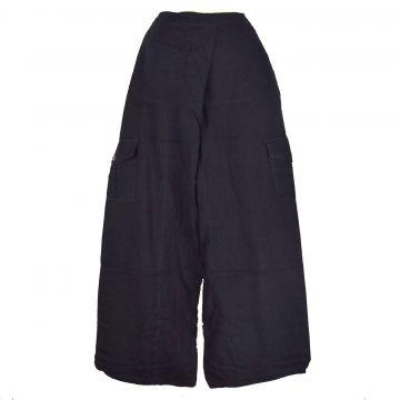 Pantalon Yoga  Coton Artisanal Uni  EV16-01 Noir