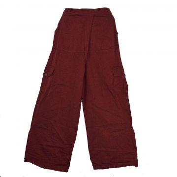 Pantalon Yoga Nisi Coton Artisanal Bordeaux