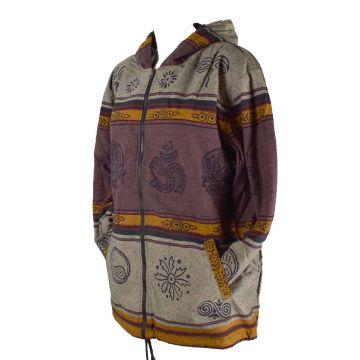Veste Homme Ruga Imprimé Népal Ton Marron