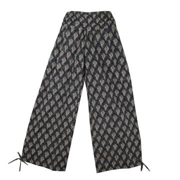 Pantalon Naricha imprimé Cédar Noir Trois Tons