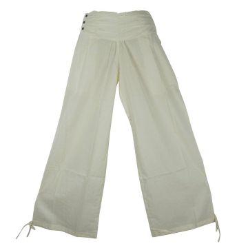 Pantalon Femme Naricha Coton Uni Écru