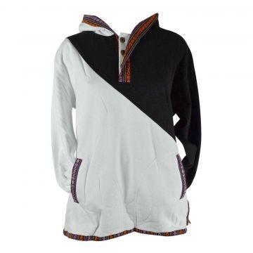 Sweater Jakholi Deux Tons Noir et Blanc