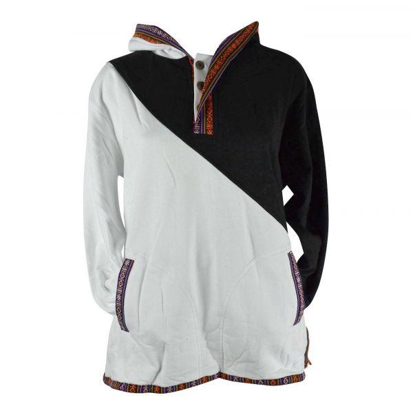 Sweater E18-13 noir/blanc
