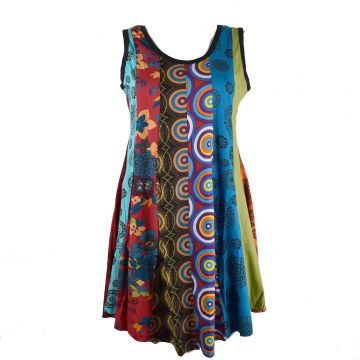 Robe Tunique Patchwork SD-93 multicolore Taille 38/40