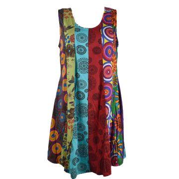 Robe Tunique Patchwork SD-93 multicolore Taille 42/44