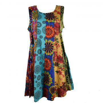 Robe Tunique Patchwork SD-93 multicolore Taille 44/46