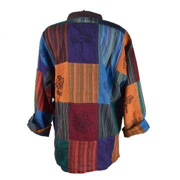 Chemise Jagat Coton du Népal Patchwork
