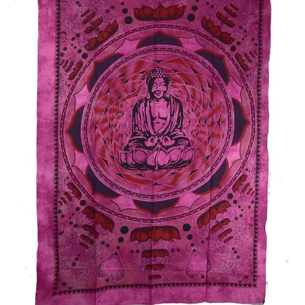 Tenture Bouddha Lotus 210 cm x 140 cm réf: BC-18/44