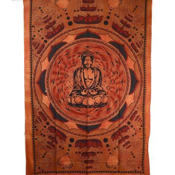 Tenture Bouddha Lotus BC-18/46 Orange Brique