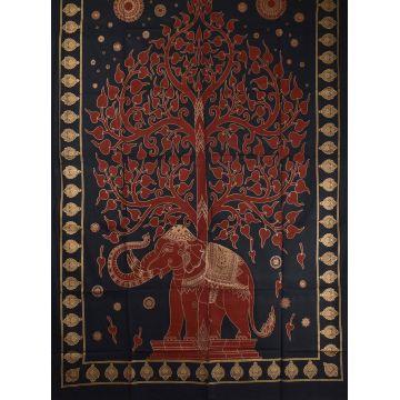 Tenture Elephant Tree Gold réf: BC-18/47