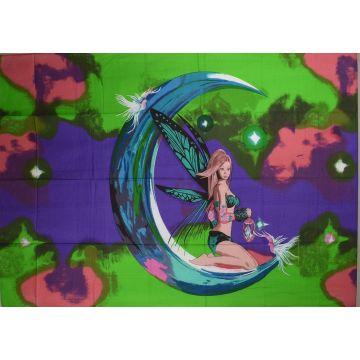 Tenture Elfe Moon Peint 210 cm x 140 cm réf: BC-18/49