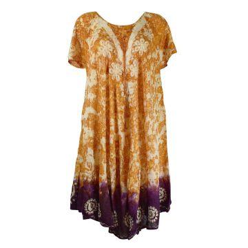 Robe Grande Taille Sukna JK-256 Ton Oranger