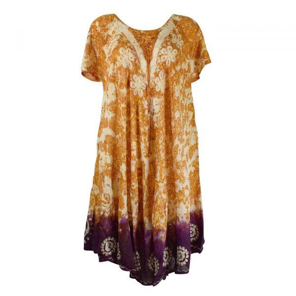 Robe Grande Taille Sukna Jk 256 Ton Oranger