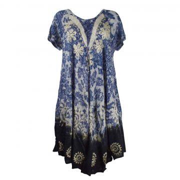 Robe Grande Taille Sukna JK-256 Ton Bleu