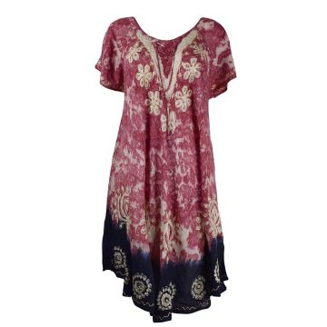 Robe Grande Taille Sukna JK-256 Ton Parme