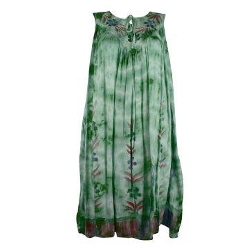 Robe Grande Taille Dévapur Tie Dye JK-443 Vert Foncé