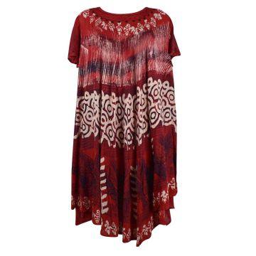 Robe Korba Batik Ton Rouge réf: JK-920 Ton Rouge