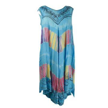 Robe Longue Rajhara JK-1980 turquoise