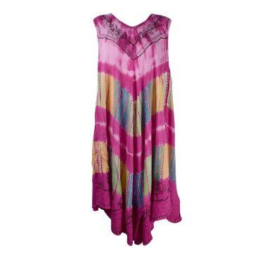 Rajhara Robe Longue Grande Taille JK-1980 rose