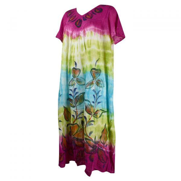 Robe Longue Ameda JK-1994/A Motif Floral Peint