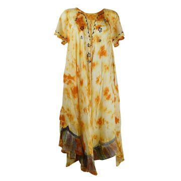 Robe Longue Saoli Grande Taille  JK-1303 orange