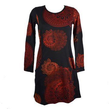 Robe Courte Binka Imprimé Rosace RO 5055/A