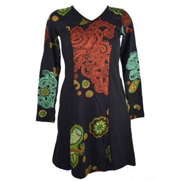 Robe Courte Nakshi Imprimé Ethnique RO 5055/A