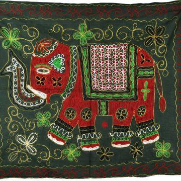 Tapisserie Murale Brodé Eléphant Indien NP-1/A