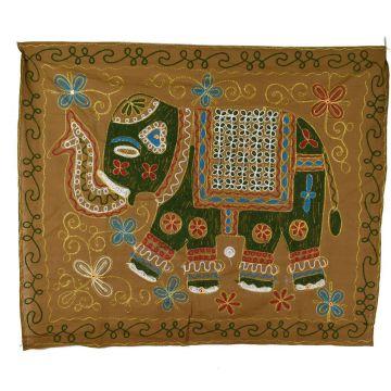 Tapisserie Murale Brodé Eléphant Indien NP-1/I