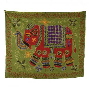 Tapisserie Murale Brodé Eléphant Indien NP-1/K