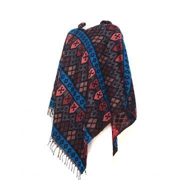 Poncho Femme Motif Aztèque Taille Ample