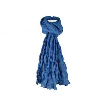 Chèche  Echarpe  Homme  Femme Coton Uni Bleu