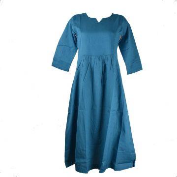 Robe Longue Sanjari Coton avec Manches