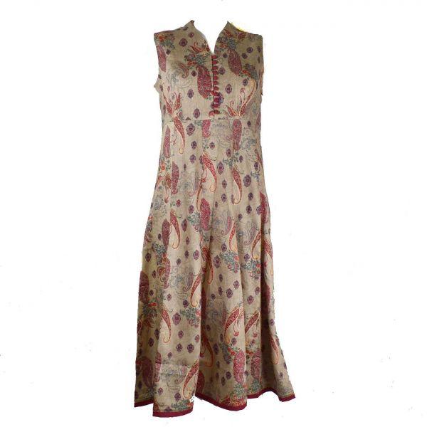 Robe Longue Kanely Satin de Coton