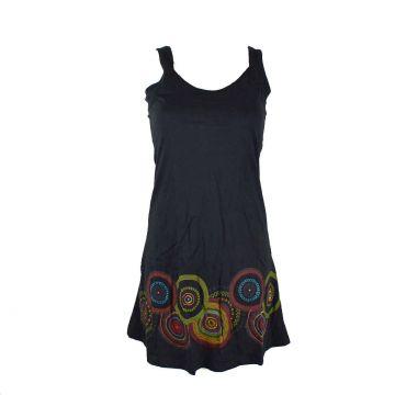 Robe Courte Asara Mandalas Print Artisanal