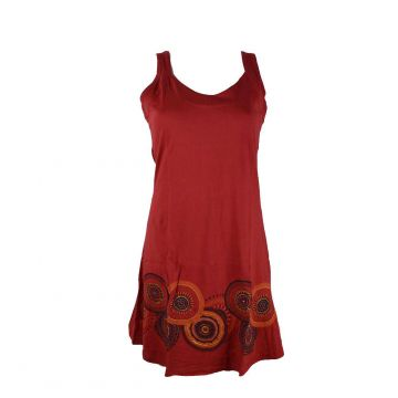 Robe Courte Asara Maille jersey Rouge