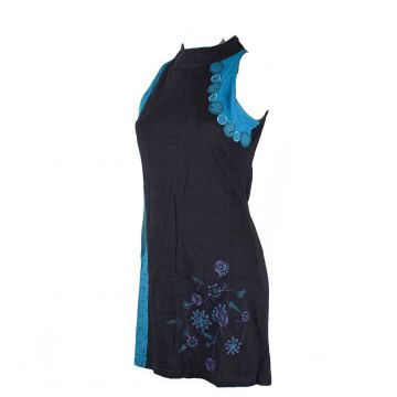 Robe Dehoria Col Impérial Maille Jersey